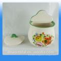 Kitchen creative apple ceramic seasoning spice jars wholesale