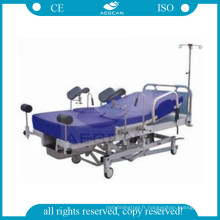 AG-C101A02 distingué lit d'hôpital de livraison de travail d'hôpital d'acier inoxydable