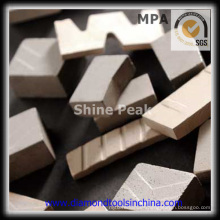 Segmento de diamante y segmento de mármol