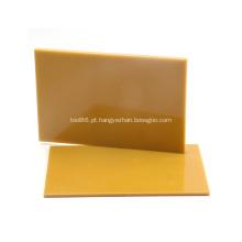 Placa amarela de fibra de vidro laminada com resina epóxi de 3 mm 3240