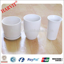 Roman Style Flower Pot / Pot Flower & Garden Flower Pot/ 4 Inch Flower Pots / Mini White Ceramic Flower Pots