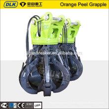 Pour le grippage hydraulique de peau d'orange de 17-23ton, seaux de grappin d'excavatrice de rotation hydraulique, grappin de ferraille
