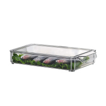 Stapelbare Aufbewahrungsbox für Lebensmittel aus Kunststoff