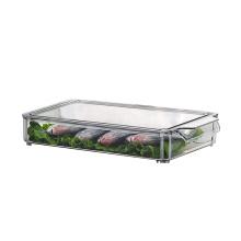 Boîte de rangement pour aliments de cuisine empilable en plastique