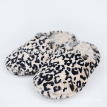 Indoor slipper for woman leopard plush home slippers