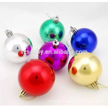 Promotional decorative plastic xmas ball decoration