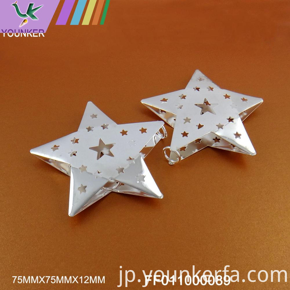 White Led String Star Shape Ornaments