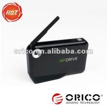 Wi-Fi Wi-Fi sem fio 2.5 '' HDD armazenamento do invólucro