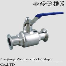 Valve à tournant sphérique sanitaire 2PC avec des extrémités de bride pour l'eau portative
