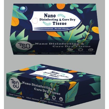 0 ° Dry Disinfektan Box Tissue Facil