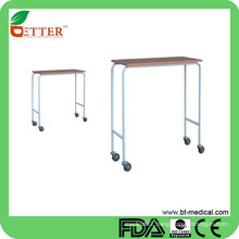 over bed table on wheels