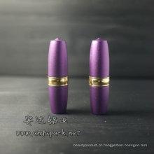 Tubo/caixa do batom de alumínio