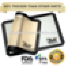"Non Stick Silicone Baking Mat (Paquete de 2) - Grado Profesional - Se adapta a las cacerolas de tamaño medio - 16 ""X 11"" - Fácil de limpiar,"