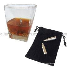OEM Reusable Stainless Steel Bullet Shape Whiskey Stones Ice Cube