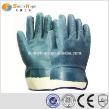Sicherheits-Manschette blau sandigen Nitirle getaucht Palme Handschuhe