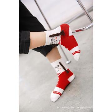 It Is Not Not Socks It Also Art Lovely Girl Cotton Socks Wearing Plait in The Feet