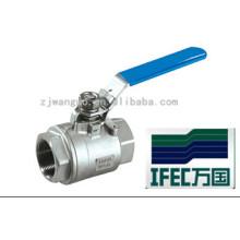 Válvula de bola de acero inoxidable 3PC (IFEC-BV100012)