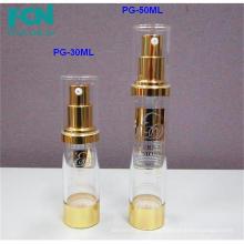 Clear PETG oem airless plastic serum pump cosmetic packaging bottles