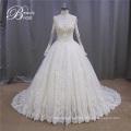 Бальное платье шампанское мусульманских длинные свадебное платье (XF1080)