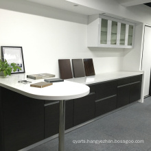 High quality our office wood veneer kitchen cabinet