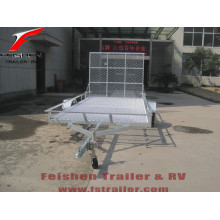 Hot selling new style ATV trailer with rear ramp with different sizes