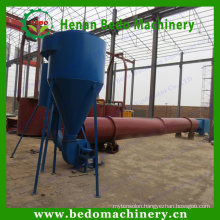 China best supplier industrial hot air rotary drum sawdust dryer machine / industrial hot air dryer