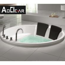 Aokeliya round bathtub embedded acrylic double hotel massage constant temperature  bathtub