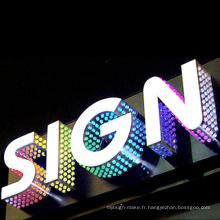 Lettre de matrice de POINT de LED, panneau d'affichage d'affichage à LED de publicité d'acier inoxydable