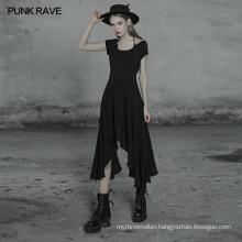 OPQ-512 punk rave chains strapted dark dress