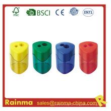Eco-Frienly Material Sehr Safrty Zwei-Loch Bleistiftspitzer für Kinder