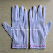Анти-Статическое Полосатой Перчатки Односторонний Чистые Перчатки Защитные Перчатки