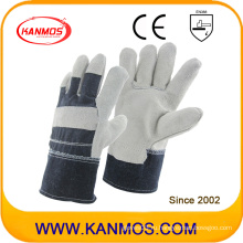 Рабочие перчатки для обеспечения безопасности на работе с серой полкой из натуральной кожи натуральной кожи (11005)