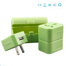 Adaptador de viaje multifuncional con puerto USB