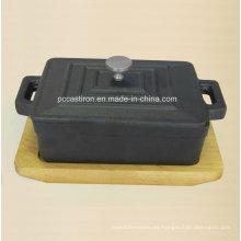 Pre Seaseond Hierro fundido mini tamaño de la salsa 12.5X9X4.5cm