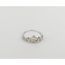 Sterling Silver 925 Ring Jewelry Crown Design Girl Platinum Ring Diamond Zircon