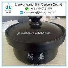Pot à soupe en graphite antiadhésif avec couvercle pour nouilles Nabe Sukiyaki