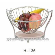 Runde Plastikschale Obstteller, Süßigkeiten Korb, Draht Obsthalter