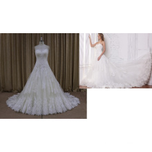 Sweet Large Lace Wedding Dresses Empire Style (SL315)