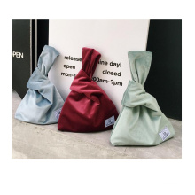 Japanese style Wrist knot refined phone pouch key purse small coin bag custom gift tote bag