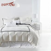 Klassisches Hotel-Erlebnis weißer ägyptischer Baumwoll-Balfour-Bettwäsche-Set