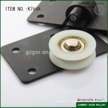 soft closing plastic wardrobe door roller wheel for cabinet
