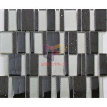 Quartz Mix Glass Irregular Shape Mosaic (CS243)
