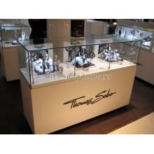 Qualitätsschmuck Uhrengeschäft Led Beleuchtendes Holz Basis Glas Gold Uhren Schmuck Display Schrank