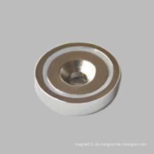 Senkkopfloch Neodym Round Base Magnet N35