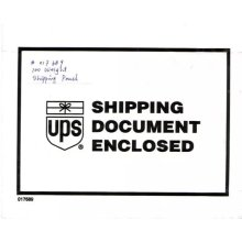 UPS Shipping document envelope