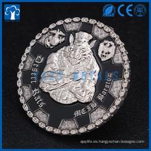 metal personalizado de encargo de la fábrica del metal de la alta calidad graba desafío tomado