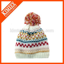 2016 fashion winter Ladies acrylic iceland knitted cable hat