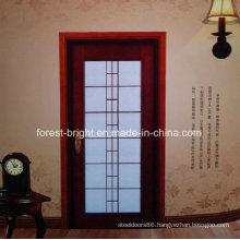 Mahogany Wood Door Models with Glass