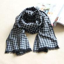 houndstooth fabric scarf,acrylic scarf