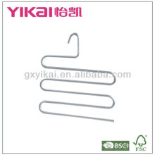 Space saving aluminium trousers hanger with 5 tiers of trousers bar